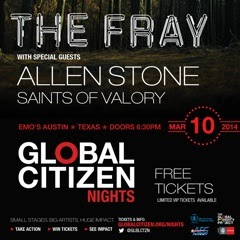 Global Citizen Presents Free Concert Featuring The Fray, Allen Stone, & More