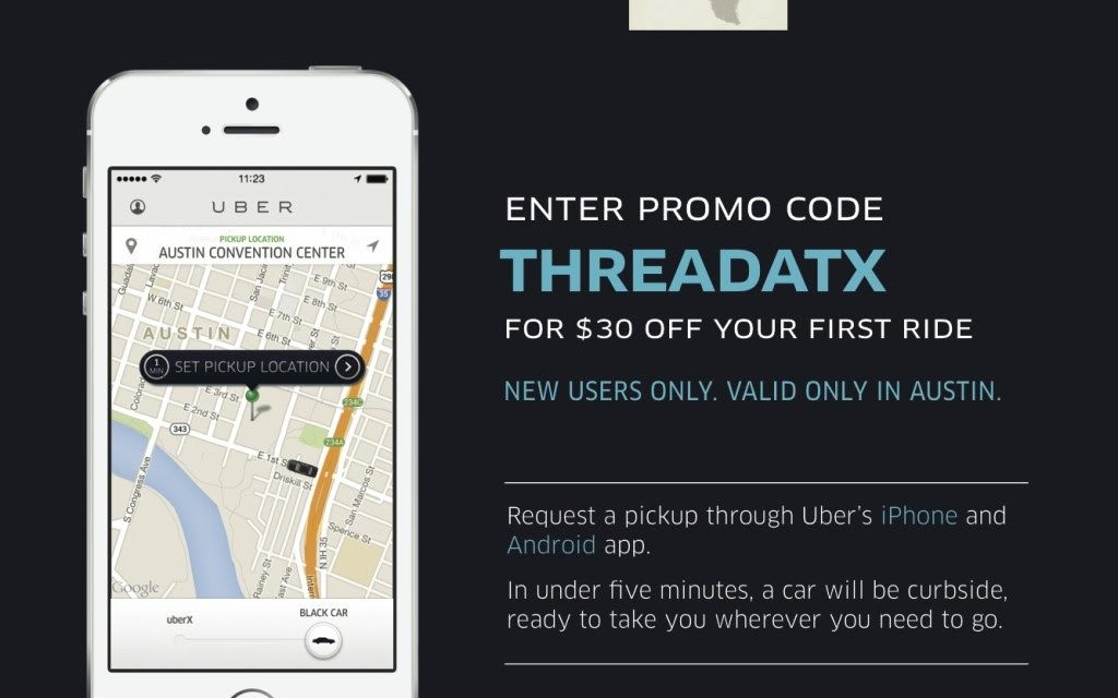 Uber Teams Up With The Thread Austin for SXSW '14